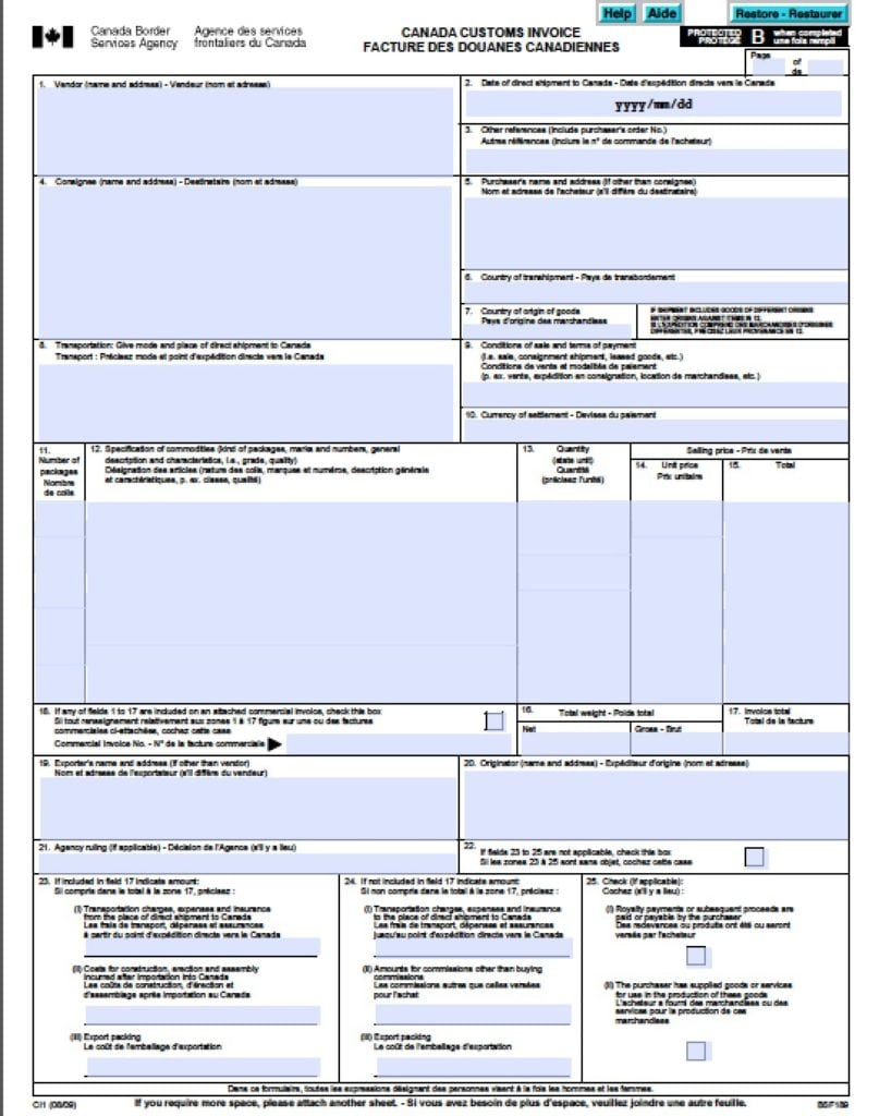here u0026 39 s the ultimate list of canada customs forms  u00bb blog