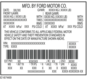 DOT US import sticker example